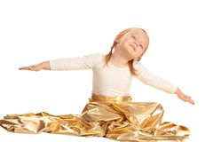 Little girl flying Stock Images