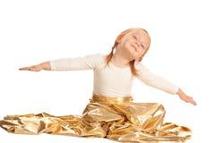 Little girl flying stock images