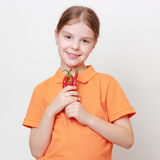 Little girl and food Stock Photography