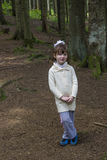 Little girl in forest Royalty Free Stock Photos