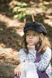 Little girl in the forrest Royalty Free Stock Images