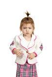 Little girl frowning Stock Image