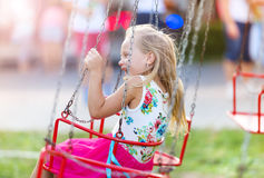 Little girl at fun fair Royalty Free Stock Image