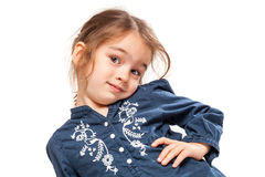 Little Girl with Funny Expression Royalty Free Stock Image