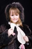 Little girl in fur Royalty Free Stock Image