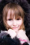 Little girl in fur Royalty Free Stock Photography