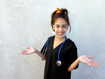 Little girl, future medical, professional, Royalty Free Stock Photos