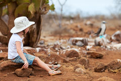 Little girl at Galapagos islands Royalty Free Stock Photos