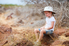 Little girl at Galapagos islands Stock Photos