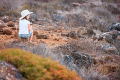 Little girl at Galapagos islands Royalty Free Stock Photography