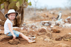 Little girl at Galapagos islands Stock Image