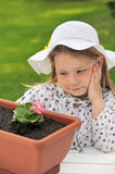 Little girl - gardening Royalty Free Stock Photography