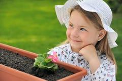 Little girl  - gardening Stock Photo