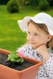 Little girl  gardening Stock Image