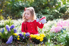 Little girl gardening Royalty Free Stock Photography