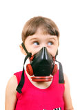 Little Girl in Gas Mask Royalty Free Stock Photos
