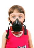 Little Girl in Gas Mask Royalty Free Stock Image