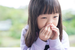 Little girl get cold Stock Photography