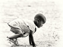 Little girl from Ghana Royalty Free Stock Images