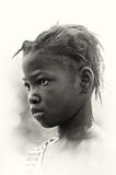 A  Little girl from Ghana looks up Stock Photo