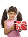 The little girl with a gift Stock Photography