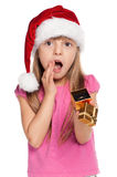 Little girl with gift box Stock Image