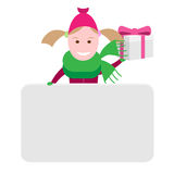 Little girl with a gift box Stock Image