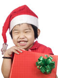 Little Girl With Gift2 Royalty Free Stock Photography