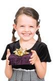 Little girl giving gift Stock Photography