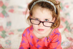 Little Girl with Glasses Royalty Free Stock Photos