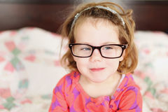 Little Girl with Glasses Stock Photo