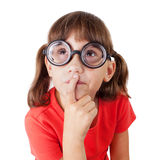 Little girl with glasses Stock Images
