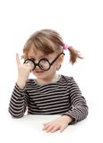 Little girl with glasses Stock Photos