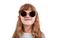 Little Girl in the Glasses Stock Photos