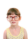 Little Girl in the Glasses Royalty Free Stock Photography