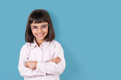 Little girl with glasses Royalty Free Stock Images