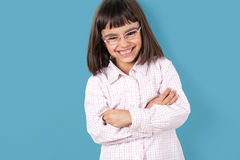 Little girl with glasses Royalty Free Stock Photography