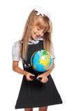 Little girl with globe Stock Photo