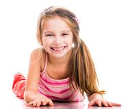 Little girl goes in for sports Royalty Free Stock Photos