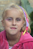 Little girl goes to the kids disco. With make up Royalty Free Stock Photos