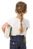 Little girl going back to school royalty free stock image