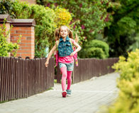 Little girl  going to school Royalty Free Stock Images