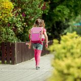 Little girl  going to school Stock Photography