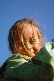 Little girl with golden locks Royalty Free Stock Photo