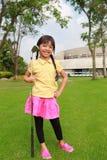 Little girl golf club Stock Photo