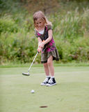 Little Girl Golfer Royalty Free Stock Image
