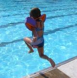 Little Girl Gonna Make a BIG Splash Stock Image