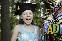 Little Girl Graduates Kindergarten Royalty Free Stock Photography