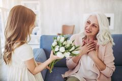Little girl with grandmother Stock Photo