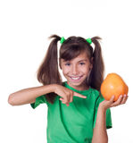 Little girl with grapefruit Royalty Free Stock Images